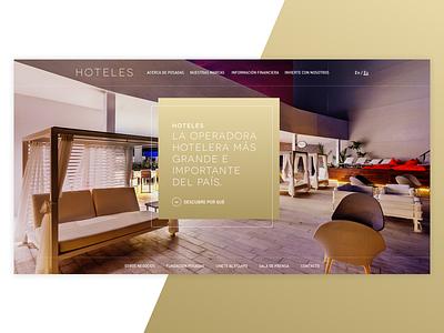 Hotel UI Stage Concept design header home principal stage ui hotel web