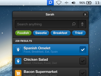 Siri's sister siri search mac osx app interface ui user dani alaez