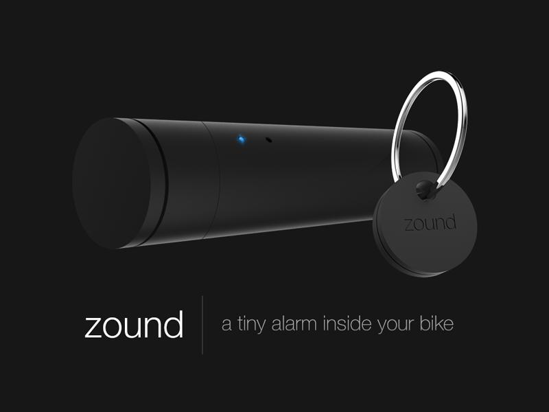 A tiny alarm inside your bike keyshot design aláez dani zound 3d render bike alarm
