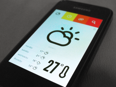 My own weather Iphone app iphone samsung app shot weather ui thermometer climacons