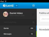 Tuenti App Redesign