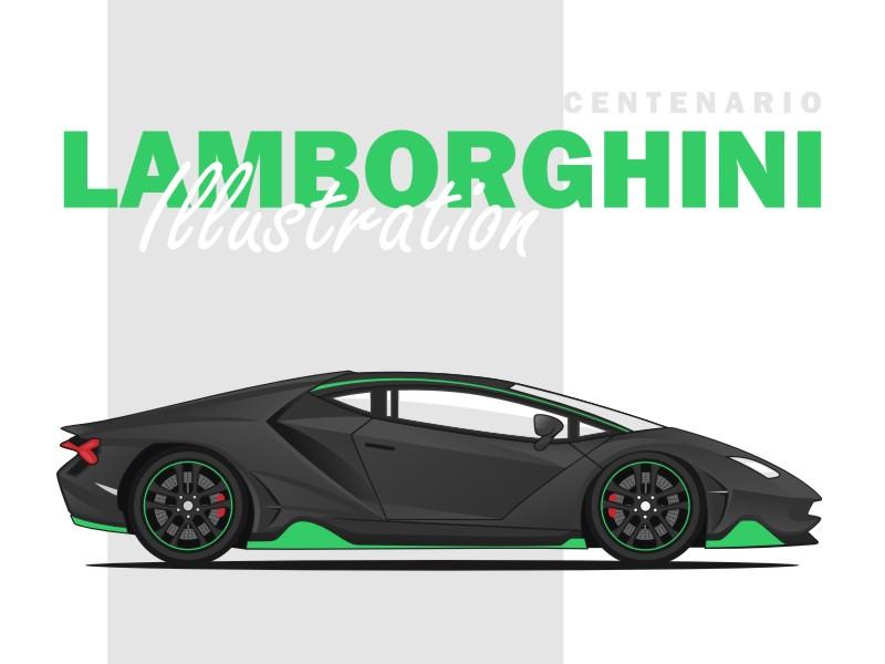 Lamborghini Centenario Illustration By Arif Rachman Hakim Dribbble