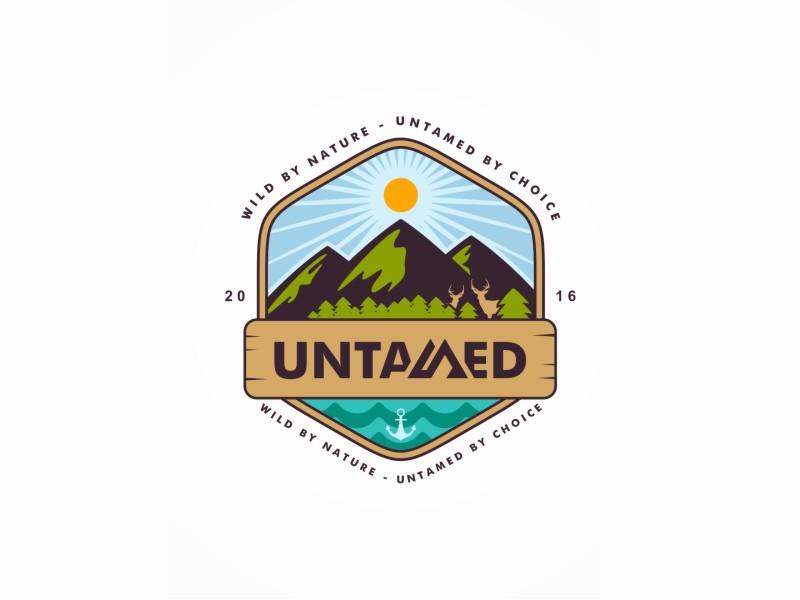Untamed nature branding brand icon symbol logo