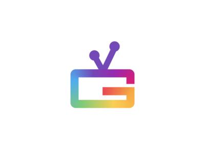 G TV - Logo iptv screen tv television icon logo letter g