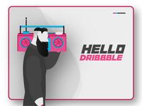 """""""Hello Dribbble""""."""