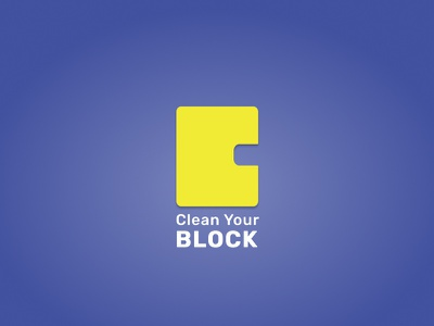 Clean Your Block - Logo visual design logo