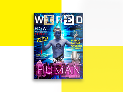 Wired - Magazine Cover wired tech design fun typography photoshop cover design magazine