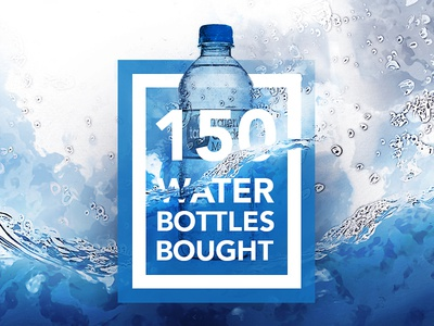 Water Bottles Infographic  water bottles blue watercolor infographic infograph borders mask illustration photoshop bubbles
