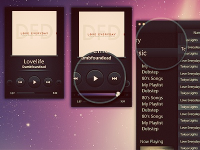 Music Player UI music player ui interface simple black minimal