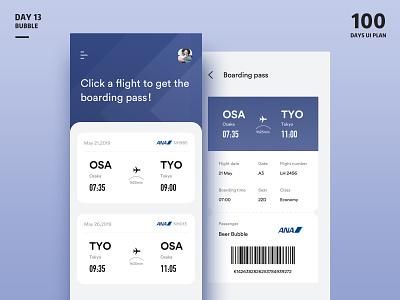 Boarding pass-App plane flight app aircraft ticket application white ui app clean design