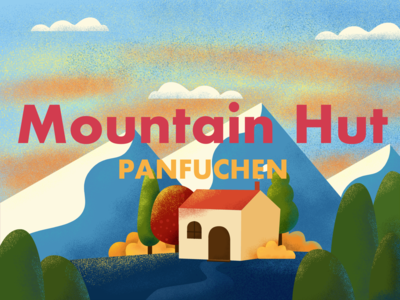 Mountain Hut mountains branding illustration poster poster design poster a day 365 daily challenge 365 365 days poster design photoshop