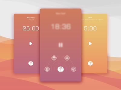 Pomodoro-iOS App Design ios mobile iphone app interface ui timing gtd pomodoro