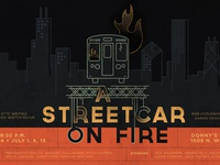 A Streetcar On Fire