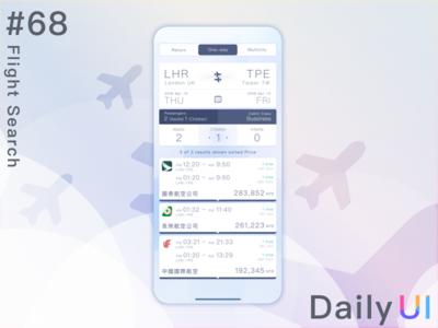 DailyUI  #68 Flight Search