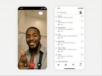 Google Hangouts New Feature Concept video call hangouts google mobile ux interaction concept flat animation ui app design