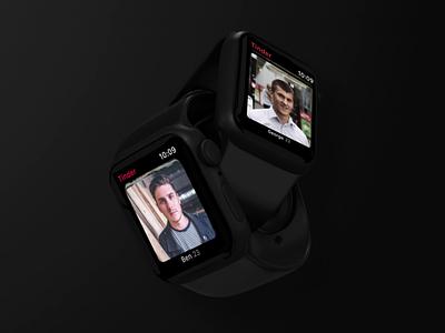 Tinder — Watch App Concept watch app dating app profile swipe concept watch apple watch tinder ui animation design app