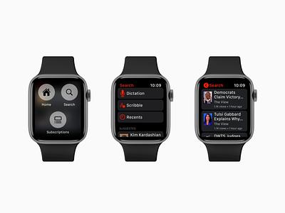 YouTube Watch App Concept ux concept animation app apple watch flat ui design