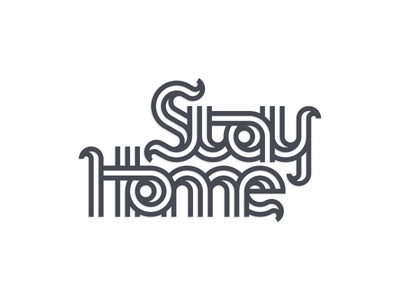 Stay Home business simple workfromhome stayathome covid19 artismstudio grid graphicdesign icon illustrator graphic design brand identity creative artwork logo lineart monoline lettermark lettering stayhome
