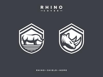 RHINO COVER artismstudio icon illustrator graphic design brand identity creative artwork logo insurance protect cover shield home rhino