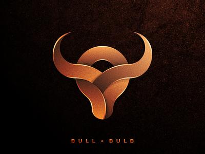 BULL + BULB creative artwork graphic design company business artismstudio brand identity branding illustration vector logos logo strong horn taurus buffalo bulbs
