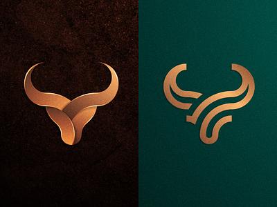 LEFT or RIGHT? artwork company business artismstudio identity branding graphicdesign illustraion vector logos logo color gradient monoline lineart luxury gold buffalo taurus bull