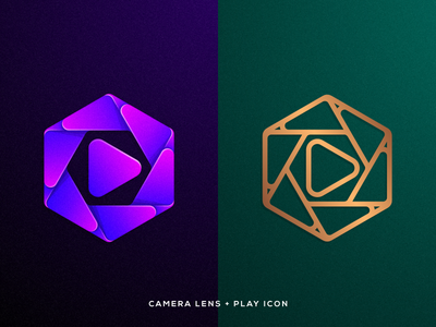 Left or Right? illustration creative artwork artismstudio graphicdesign identity branding logos logo monoline luxury colorful abstract film video movie play media lens camera