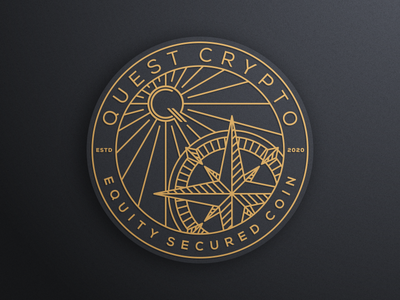 QUEST CRYPTO part 1 artismstudio icon design creative artwork brandidentity vector graphicdesign illustration logo secured luxury monoline lineart coin cryptocurrency crypto quest