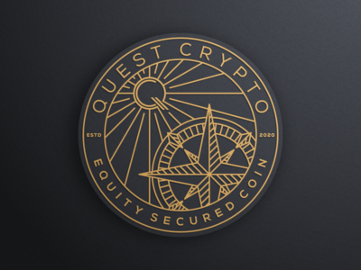 QUEST CRYPTO artismstudio icon design creative artwork brandidentity vector graphicdesign illustration logo secured luxury monoline lineart coin cryptocurrency crypto quest