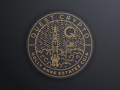 QUEST CRYPTO part 2 artismstudio icon illustrator graphic design creative vector graphics branding line simple luxury lineart monoline coin logo crypto quest