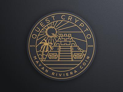QUEST CRYPTO part 3 artismstudio ui artwork design icon illustration branding vector graphic coin badge logo luxury monoline lineart crypto quest