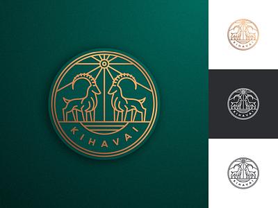 Nubian Ibex graphic design artismstudio company business branding creative artwork vector illustration logo luxury lineart monoline clothing goat mountaingoat nubianibex