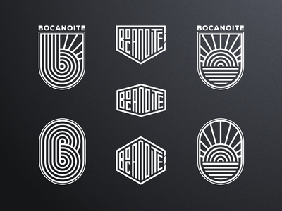 BOCANOITE artismstudio design creative artwork clothing monoline lineart graphicdesign company business identity branding vector logo custommotorcycle surf skate motorcycle