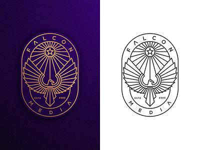 FALCON MEDIA Vol.2 artismstudio graphic design ux vector ui artwork company business illustration identity branding monoline lineart logo media eagle falcon