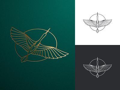 Stork or Crane? artismstudio simple ux ui artwork company business identity branding graphic design vector illustration logo luxury lineart monoline animal bird crane stork