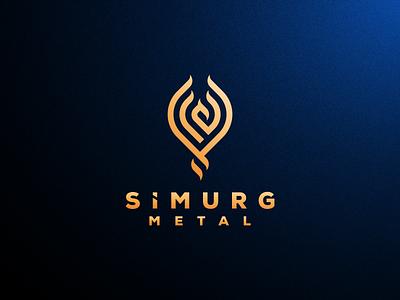SIMURG METAL artismstudio ux ui vector illustration icon company business identity branding logos logo monoline lineart abstract animal mythology phoenix simurg
