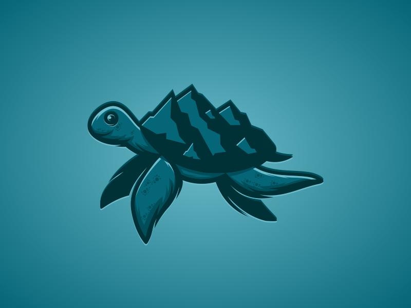 MountTurtle artwork creative photoshop coreldraw illustrator graphic design letter head brand identity logo forsale mountain turtle