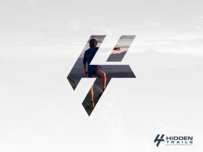 "H+T | Logo concept for ""Hidden Trails"". artwork creative photoshop coreldraw illustrator graphic design brand identity lettermark logo adventure camping outdoor"