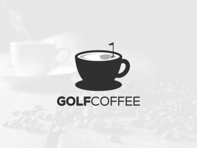 Golf+Coffee coffee golf artwork creative photoshop coreldraw illustrator graphic design brand identity tshirt logo icon