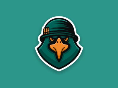 Falcon Soldier artwork creative photoshop coreldraw illustrator graphic design brand identity sticker logo icon soldier falcon
