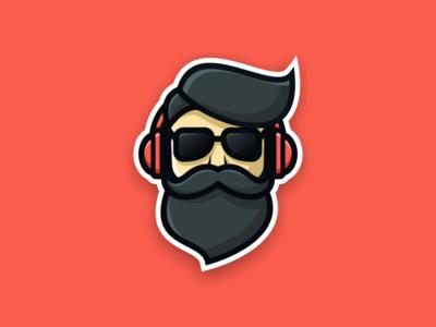 Beard Pilot artwork creative photoshop coreldraw illustrator graphic design brand identity sticker logo icon pilot beard