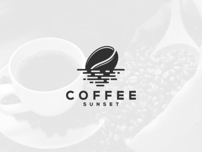 Coffee Sunset artwork coreldraw illustrator graphic design brand identity business card logo forsale sunset coffee