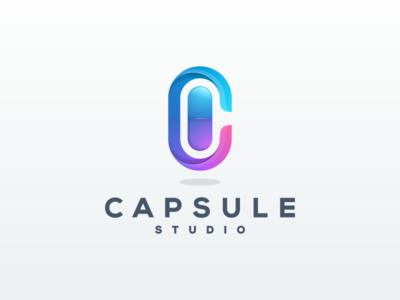 CAPSULE STUDIO artwork coreldraw illustrator graphic design brand identity business card logo creative capsule 3d