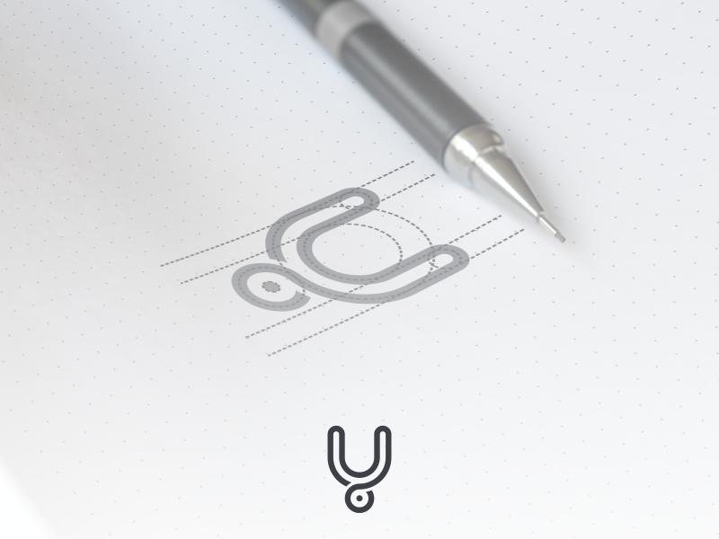 Y letter grid artwork coreldraw illustrator graphic design brand identity business card logo grid creative lettermark