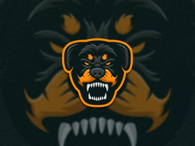 Rottweiler artwork creative photoshop coreldraw illustrator graphic design brand identity tshirt logo icon esport rottweiler
