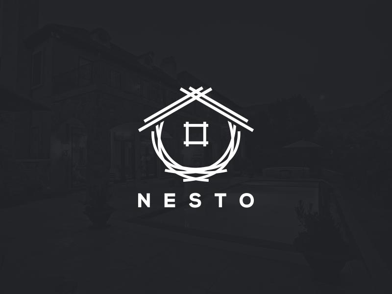 Nesto artwork creative photoshop coreldraw illustrator graphic design brand identity tshirt logo nest mortgage real estate