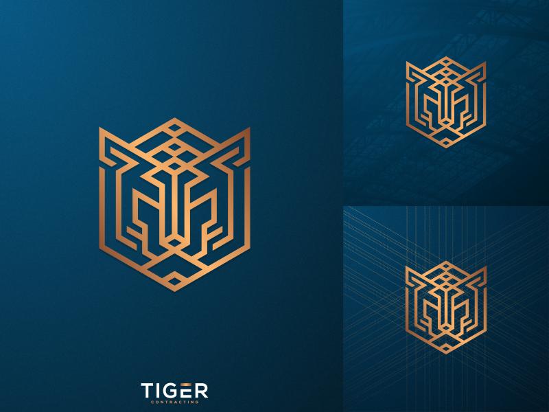 Luxury Tiger photoshop luxury contracting logo illustrator icon graphic design creative coreldraw brand identity artwork tiger