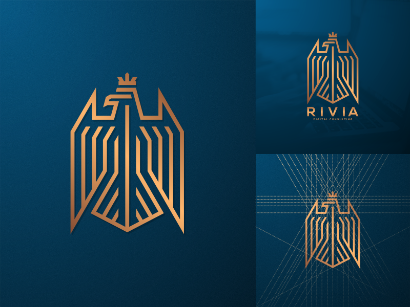 Luxury Eagle eagle photoshop luxury logo illustrator icon graphic design creative coreldraw consulting brand identity artwork