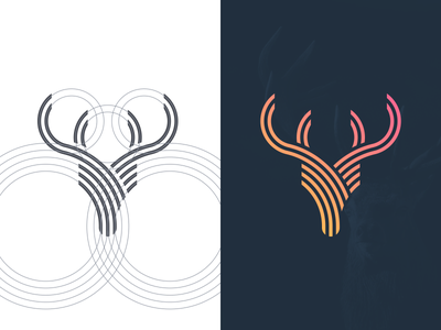 Deer sketch photoshop logo grid graphic design creative coreldraw business card brand identity artwork forsale deer