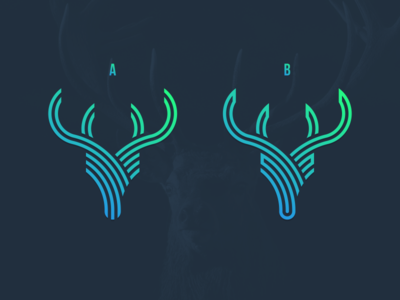 Which one, A or B? sketch photoshop logo grid graphic design forsale deer creative coreldraw business card brand identity artwork