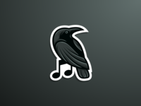 Crow/Raven + Music | Sticker concept